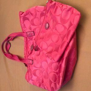 Coach tote weekender packable travel bag
